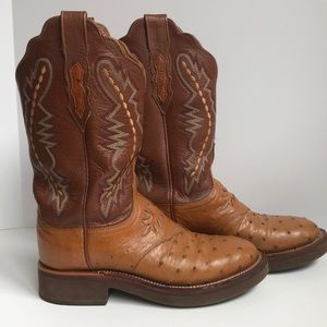 Lucchese 2000 ostrich/leather boot size 7